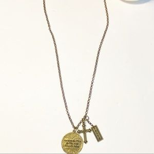 """Mud pie Brass Long 34"""" Chain Necklace"""